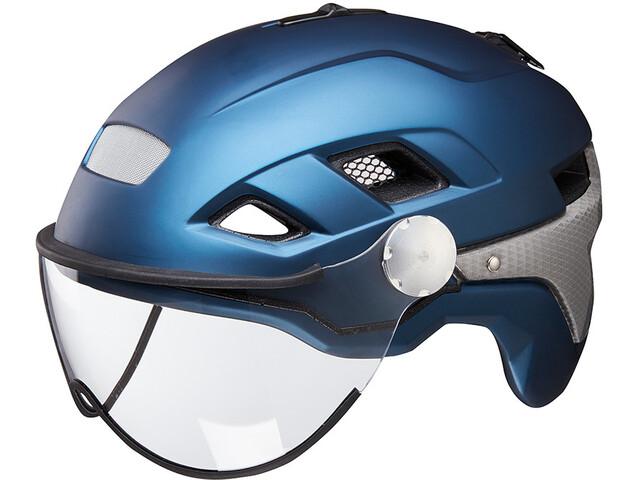 KED B-Vis X-Lite Kask rowerowy, nightblue matt